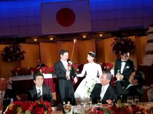 新谷正義議員結婚式